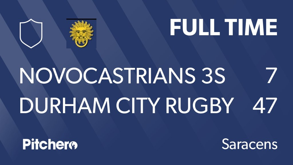 Durham City Rfc On Twitter Full Time Novocastrians 3s 7 47