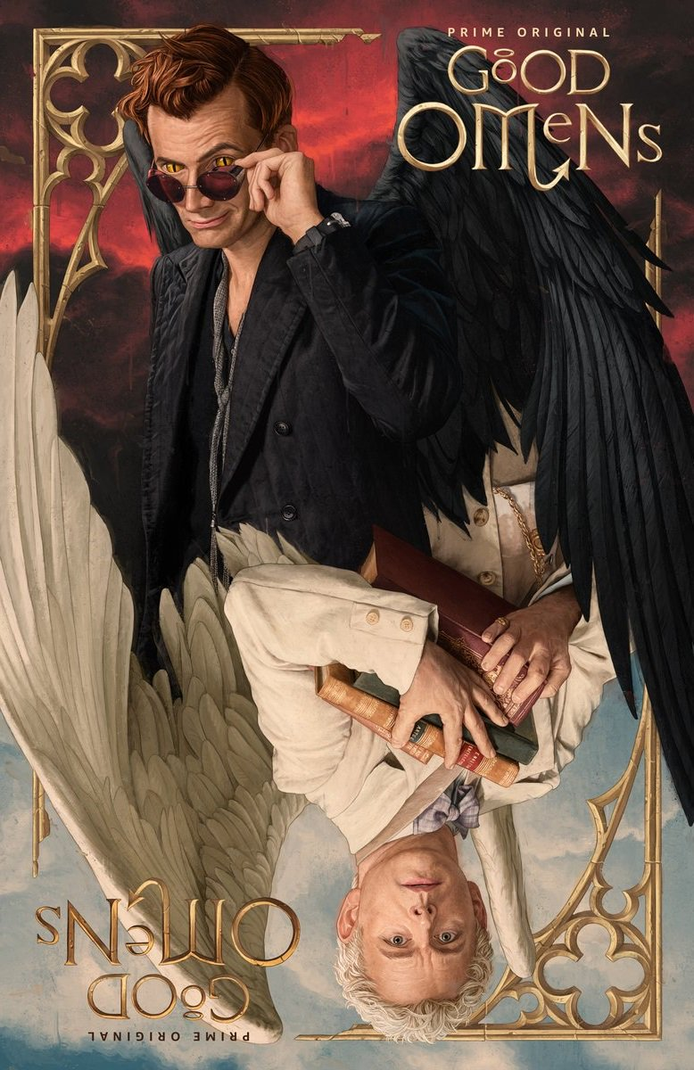 Good Omens poster of David Tennant and Michael Sheen