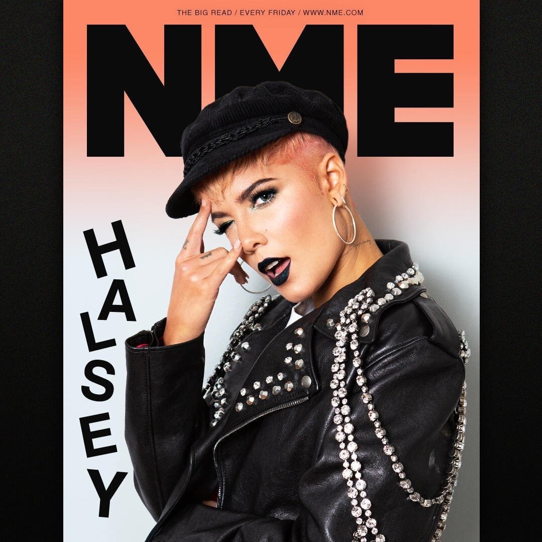 "Wow an @NME cover! I always wanted be voted ""worst band/artist"" at the NME awards but I guess they have other plans....much nicer ones.... head to their website to check out genuinely one of my favorite interviews I've ever done. Love always. Thanks guys. 🖤"