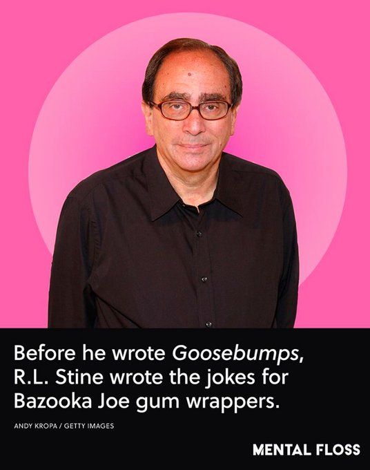 Happy Birthday, R. L. Stine!  Thanks for entertaining (and scaring the bejeezus out of) kids for decades.