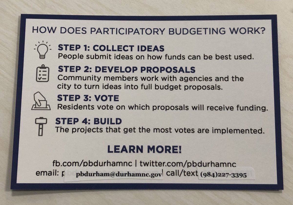 Pb Durham On Twitter Participatory Budgeting Is Coming To Durham