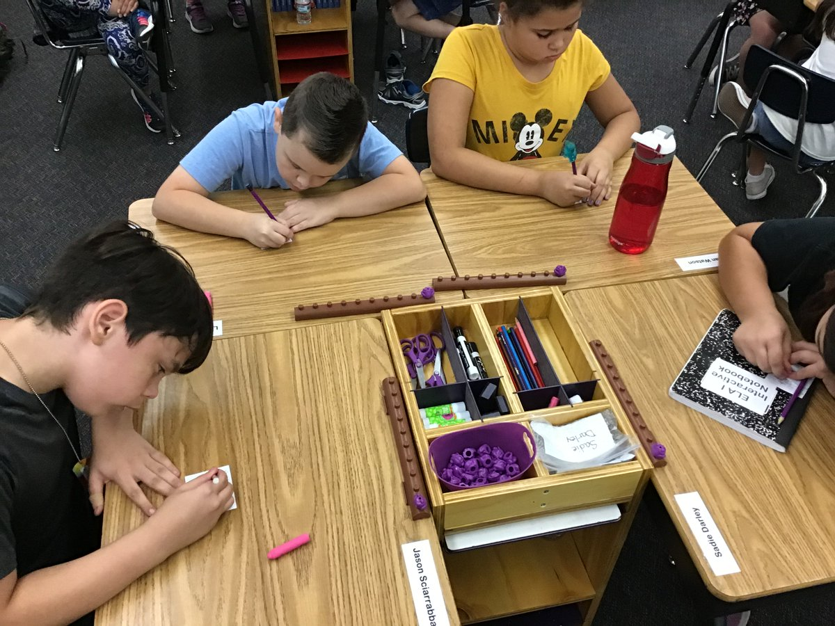 """Ss writing their Fabulous Friday """"Kindness"""" comment cards to their Panther Partners. #CelebrateLPS #citrusschools #sanfordharmony"""