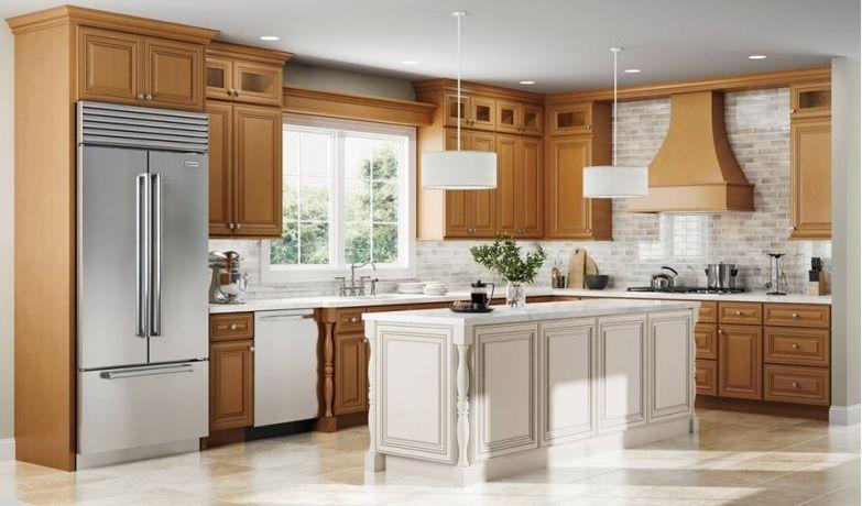 Beautiful Faux Wood Kitchen Cabinets