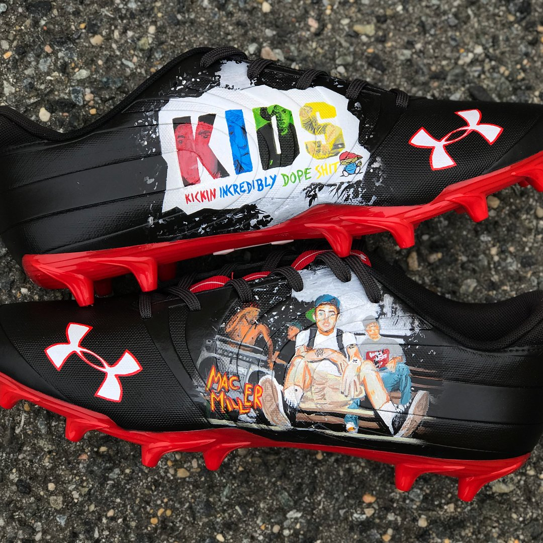 430656052 falcons receiver will pay tribute to mac miller with these custom kids  under armour nitro low