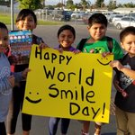 Image for the Tweet beginning: Today is World Smile Day!