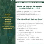 Image for the Tweet beginning: The @SmallBizExpos will be in