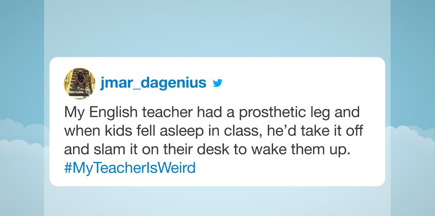 Jimmy reads your favorite #MyTeacherIsWeird tweets https://t.co/3iTAMas9BD https://t.co/KQ8oDC0E93