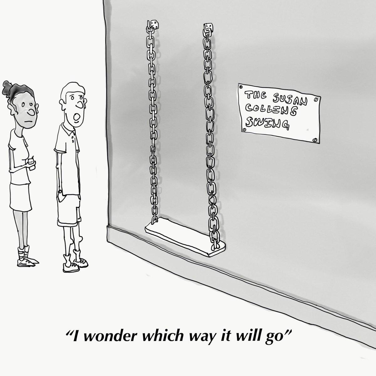 i drew a cartoon about Susan Collins