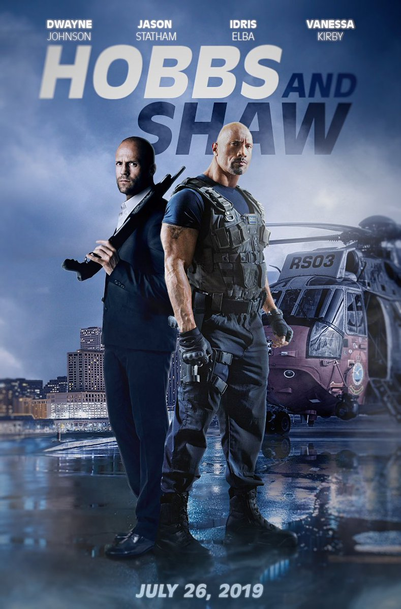 Image result for hobbs and shaw 2019 movie poster