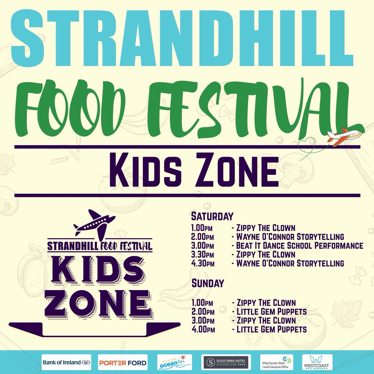 Good luck to @almulrooney, Niamh and all the team behind this weekend's #StrandhillFoodFest in Sligo Airport - a huge feat, a huge feast!   Tickets available online and at the gate over the weekend.  http://www. strandhillfoodfestival.com    <br>http://pic.twitter.com/ERyIvTchGY