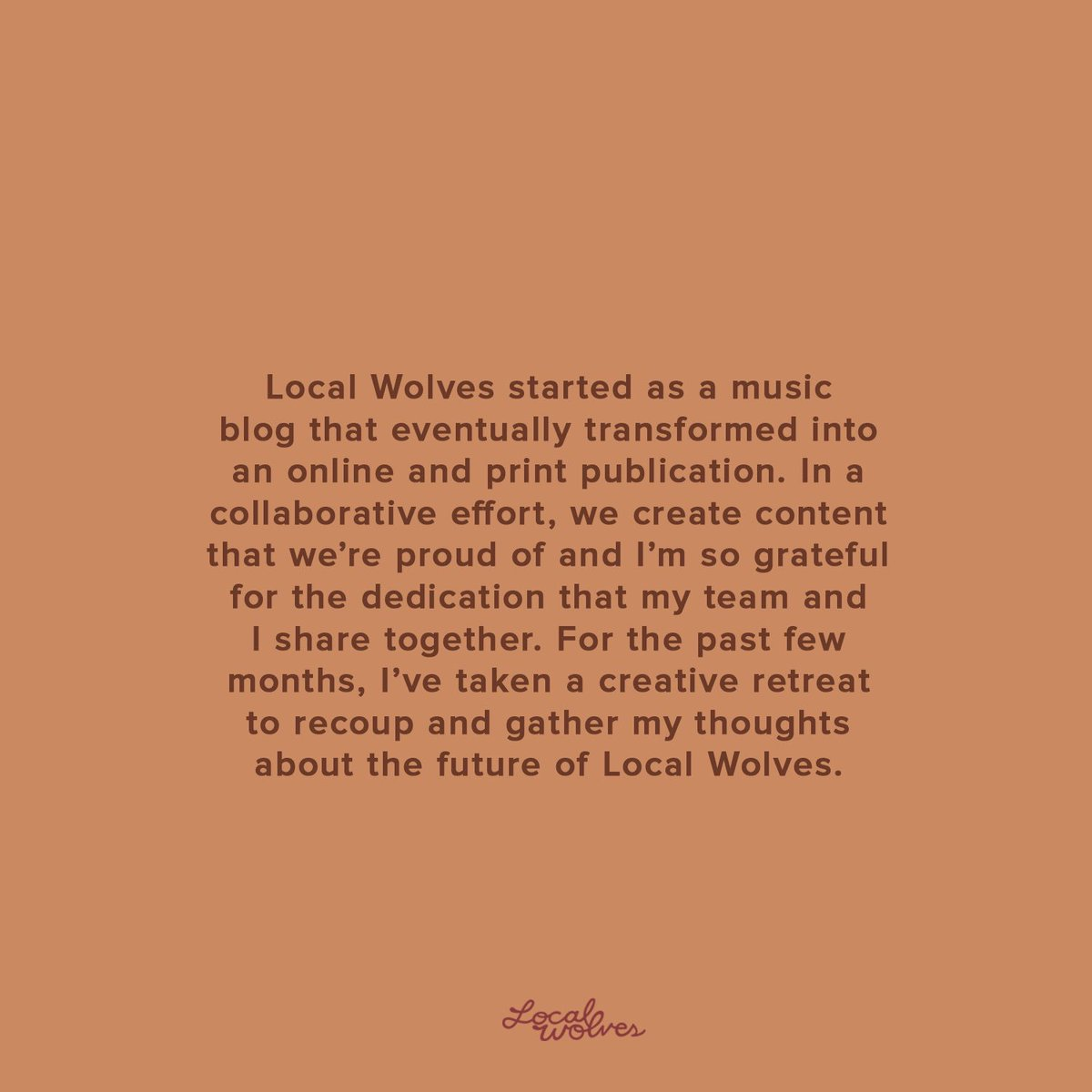 how to write for local wolves