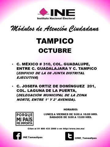 Ine Tamaulipas On Twitter Ine Tamaulipas Informa La