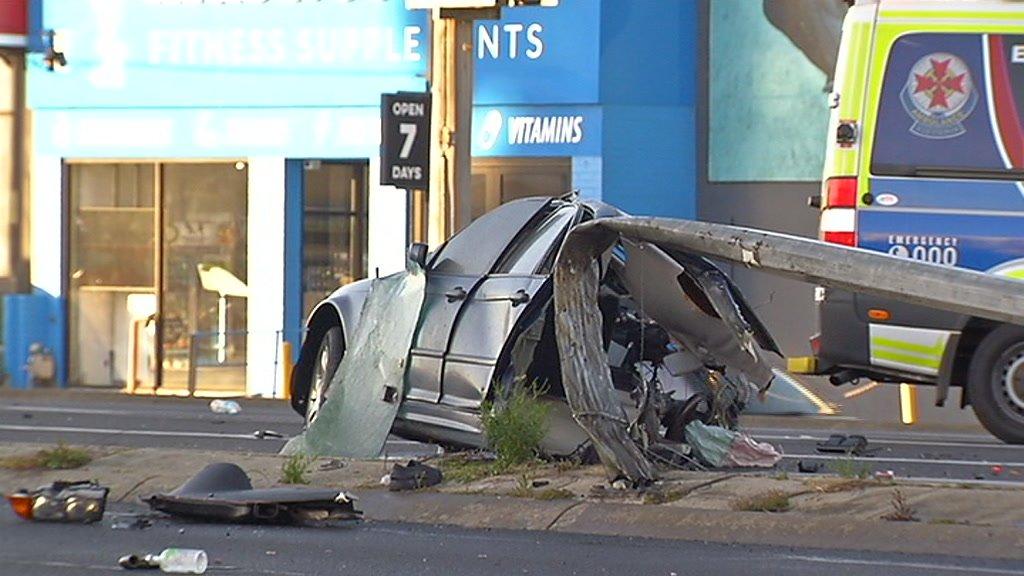 Woman dies as car torn apart in horror smash http://www.abc