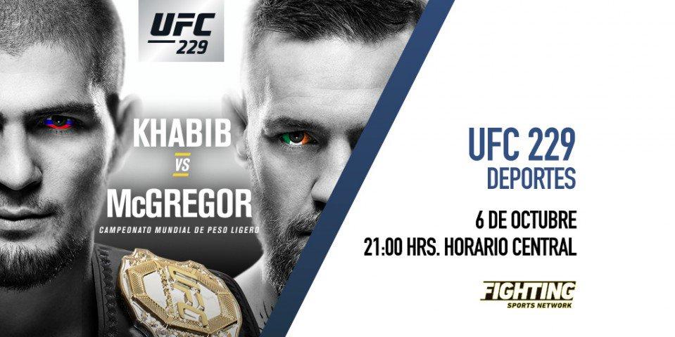 Un gran enfrentamiento: 'Khabib vs McGregor'. Una meta: el título ligero de la UFC.   Un canal: @FSNetwork. ¡Este sábado 6 de octubre! 👊🏻 https://t.co/3SejakZCYL