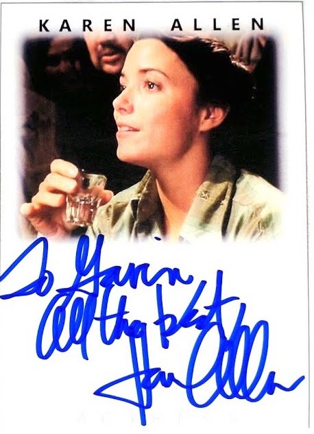 Happy Birthday to the lovely Karen Allen! Great actress and a pretty good TTM signer too.