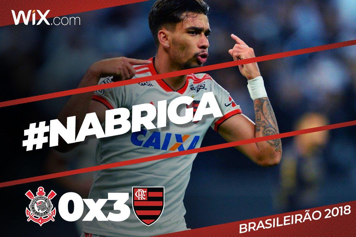 Sextou! Paquetá marca duas vezes, Renê completa, Flamengo goleia Corinthians por 3 a 0 e está muito #NaBriga no Brasileirão!  Vem pro :  https://t.co/BG6PpxkQ0p