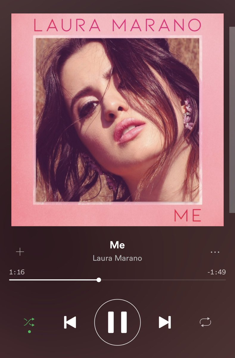 Who has two thumbs and is super proud of @lauramarano on her new single, Me?! MEEEEEEE 🤗😘👍🏽👏🏽 GET IT GURL!