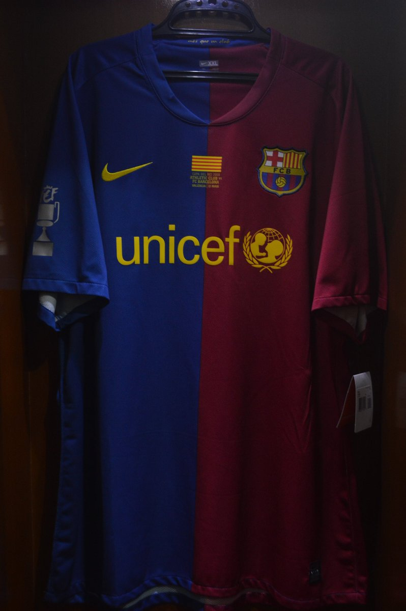 3e53cf7ddf6 #Jersey4Sale Barcelona Home 2008/09 Player Issue Size 2XL Brand New With  Tag XAVI #6 Patch & MDT Copa Del Rey All Original IDR  1.200.000pic.twitter.com/ ...