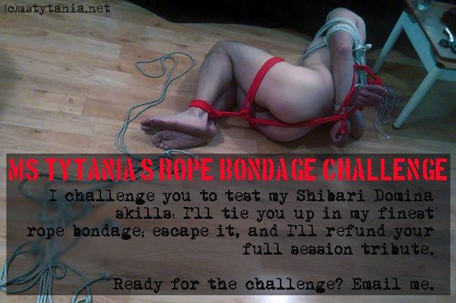 Have 24 hour rope bondage