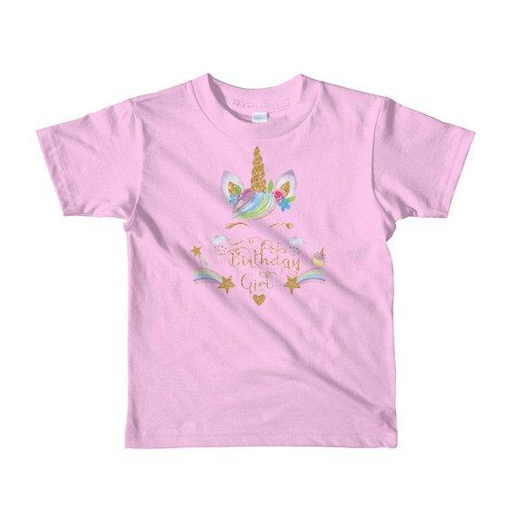 Unicorn Theme Birthdaycustom Birthday Shirt Kids T GoldUnicornHorn BirthdayGirl GirlsBirthday UnicornBirthday
