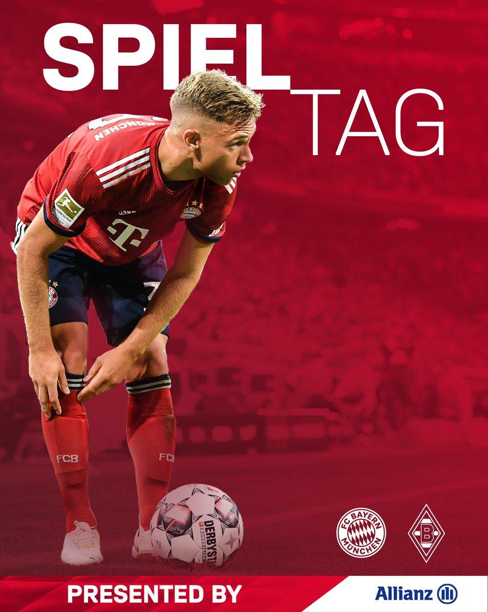 #Bundesliga-Topspiel! 🙌  🆚 #FCBBMG 🏟 #AllianzArena ⏰ 18:30 Uhr   Gemeinsam #packmas! 💪  #FCBayern #MiaSanMia
