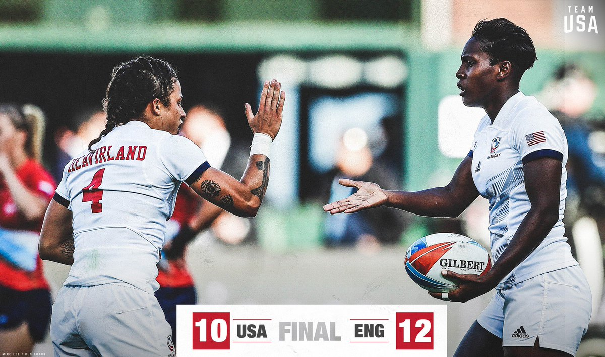 Down but not out ( 💪). @USARugby 🇺🇸 puts up a good fight against England 🏴 in its #USAW7s opener.    Next match for the U.S. » China 🇨🇳