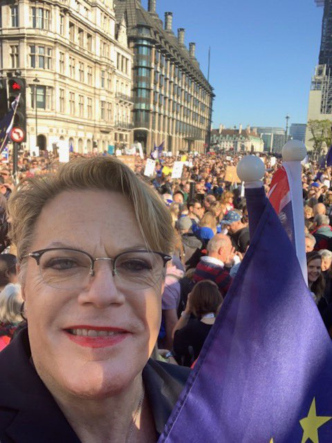 Today I marched for a #peoplesvote with @open_britpress against a hard and vicious Brexit. Britain can't go forwards if we're going backwards and Brexit is backwards.