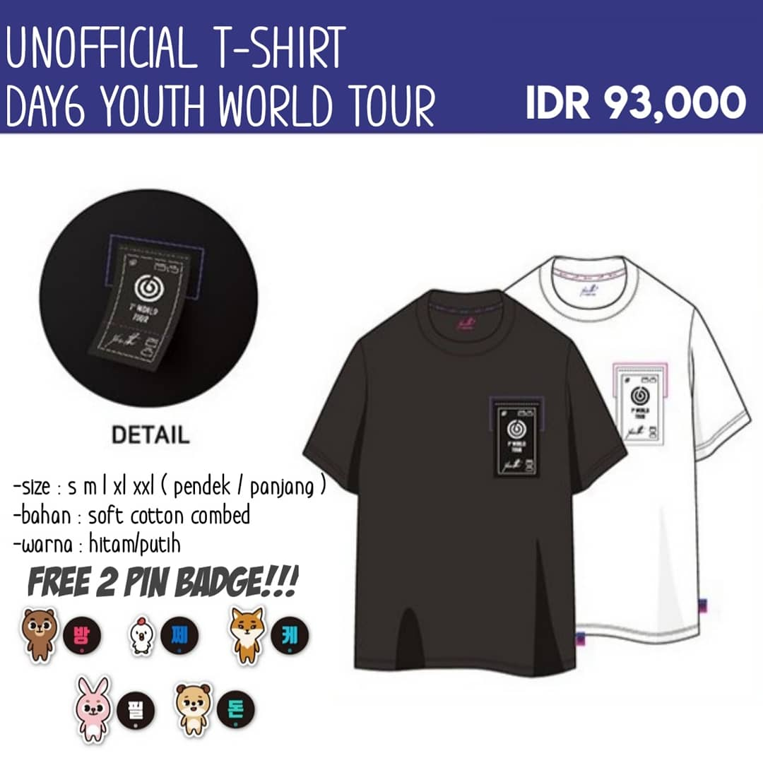 Dropship On Tendencies Tshirt Great Again Hitam M Po Unofficial Day6 Youth World Tour Price 93000idr Close