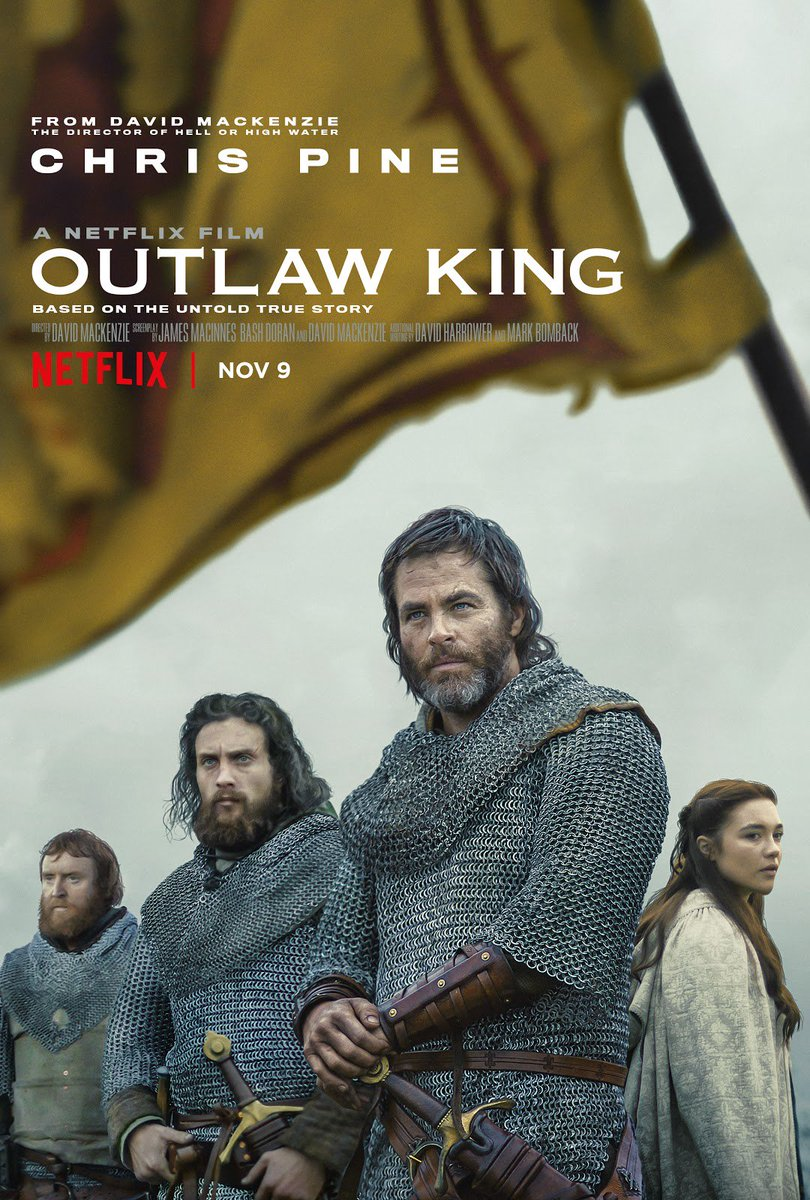 Outlaw King comes to Netflix November 9th, and it has everything you need in a historical film: Battles, pride, and a really great beard from Chris Pine.