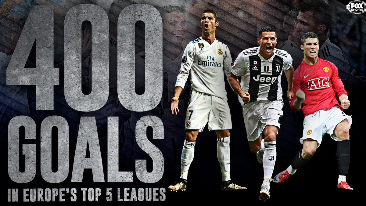 Cristiano Ronaldo has become the first player to score 400 goals in Europe's top five leagues 🔥