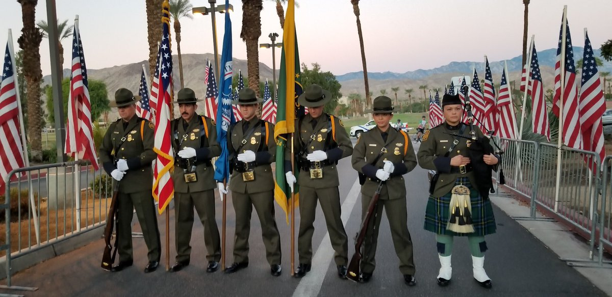 This morning #CBPElCentro #USBP agents were out in #PalmDesert, CA at the 2018 #PatriotRide to show support for our #Veterans & #FirstResponders. They were also out recruiting for jobs with @CBP. #HonorFirst #Vigilance #ServiceToCountry #Integrity #LawEnforcement<br>http://pic.twitter.com/7mBhOttLQp