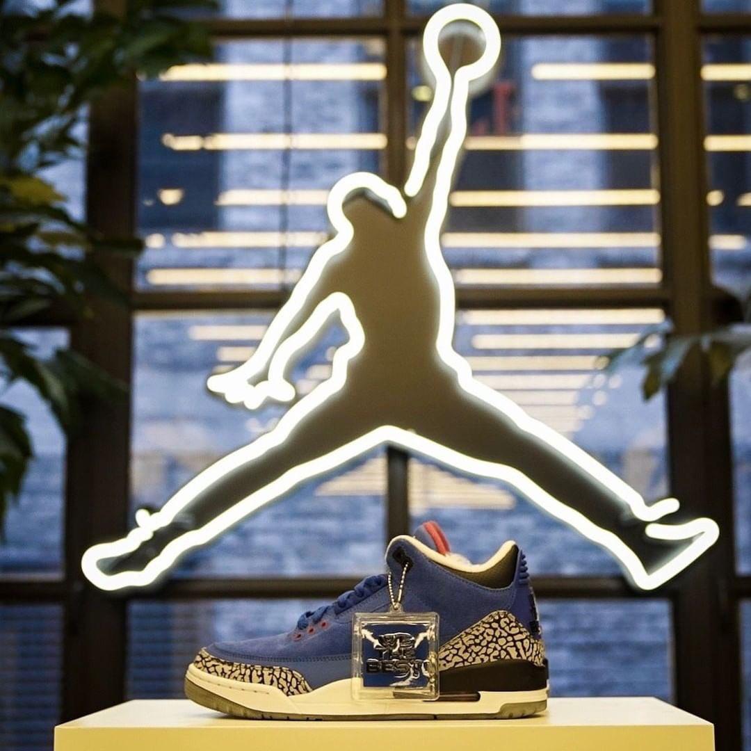 """Father of Asahd"" @djkhaled x Air Jordan 3 raffle going down at the @jumpman23 LA grand opening. 👀 📸: @J23app"