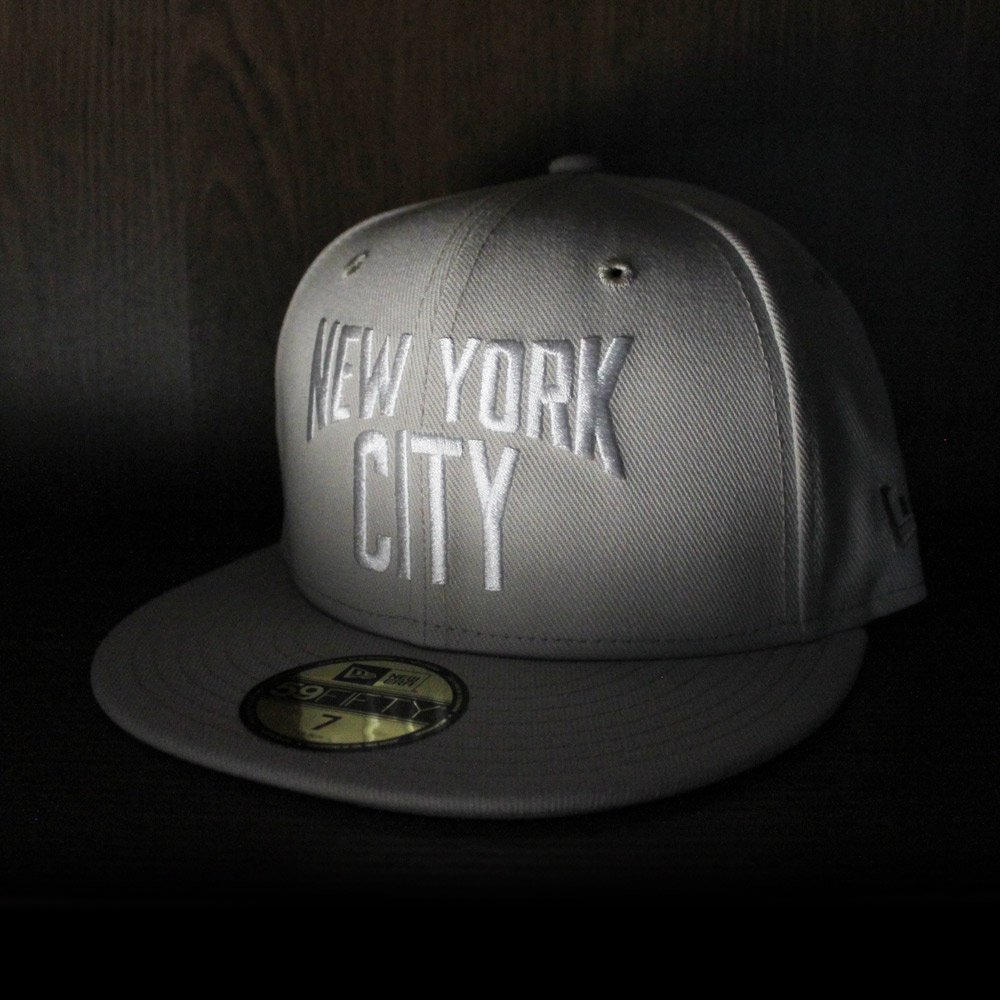 a46d3a5ae09 John Lennon New York City New Era 59Fifty Fitted Hat (Stone Gray Under Brim)