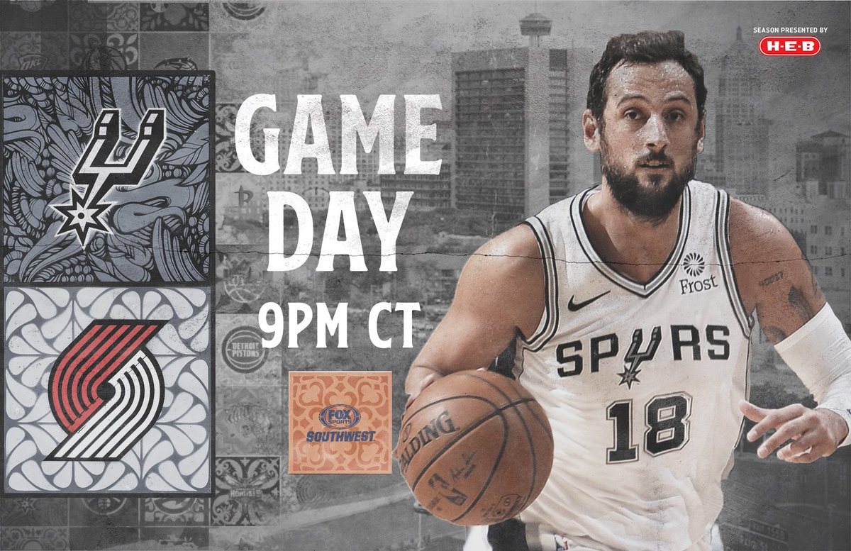 In Portland for our first road game of the season!   #GoSpursGo