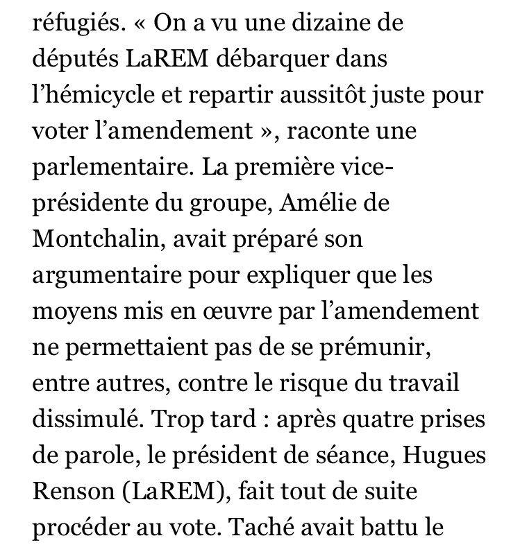 Daprès @Le_Figaro, le député LREM Aurélien Taché a mobilisé dans une chaîne Telegram pour faire adopter son amendement contre lavis du Gouvernement #DirectAN