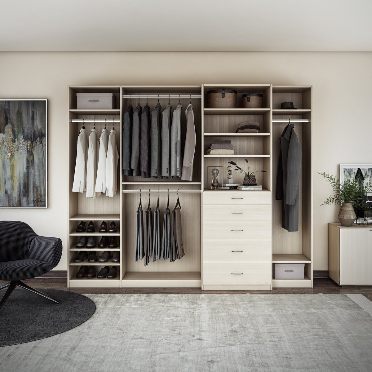 ... Vertical Shelving Can Make Your Small Space Seem Bigger And Taller!  #spacesaving Https://www.closetsbydesign.com/bedroom  Pic.twitter.com/B4Hs8ltopa