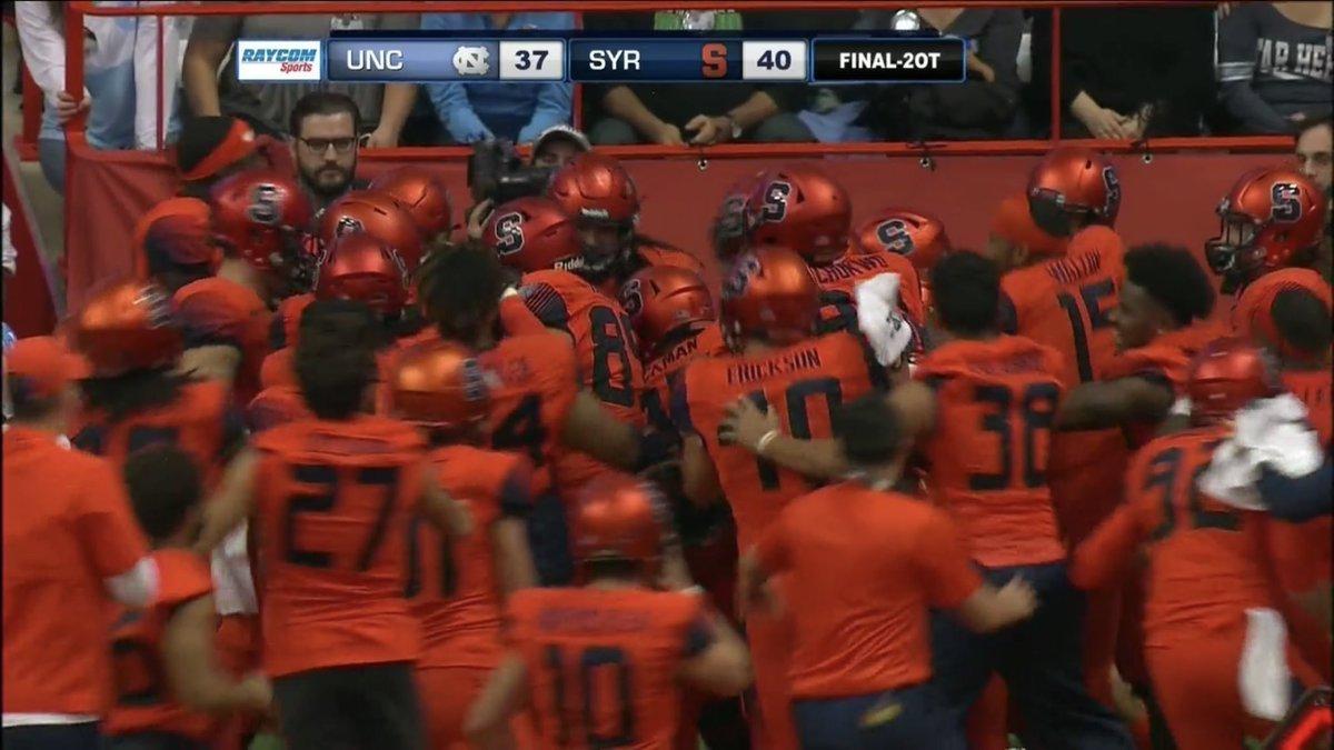 'CUSE WINS IN OT: DeVito slings Syracuse to comeback over Carolina