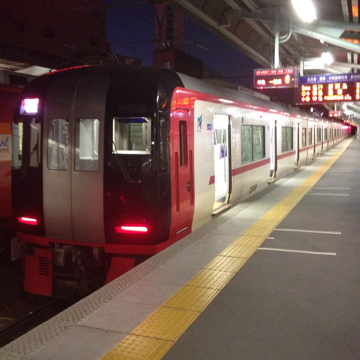 名鉄 名鉄岐阜駅 2番線ホーム 2200系