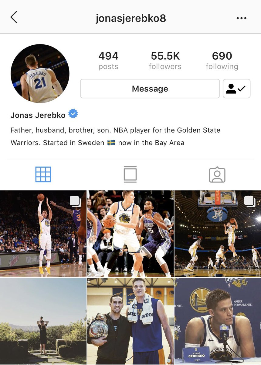 2683c99f5bd6 Jonas Jerebko almost doubled his follower count over night gaining nearly  50K new Instagram followers in about 12 hours.