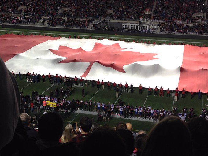 @TD_Place After a tragedy in downtown Ottawa, the chance to gather at a #RedBlacks game and be proud was deeply moving. Photo