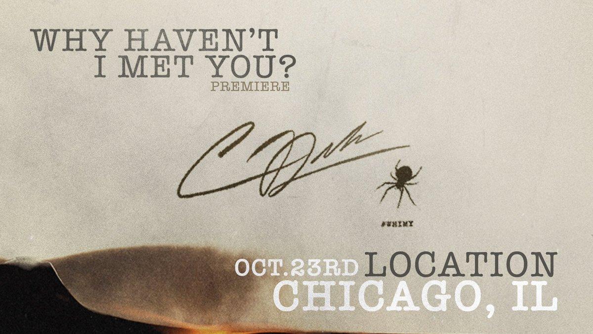 Chicago | 10/23 | https://t.co/S0AJVP0Pc0 #WHIMYChicago 🕷
