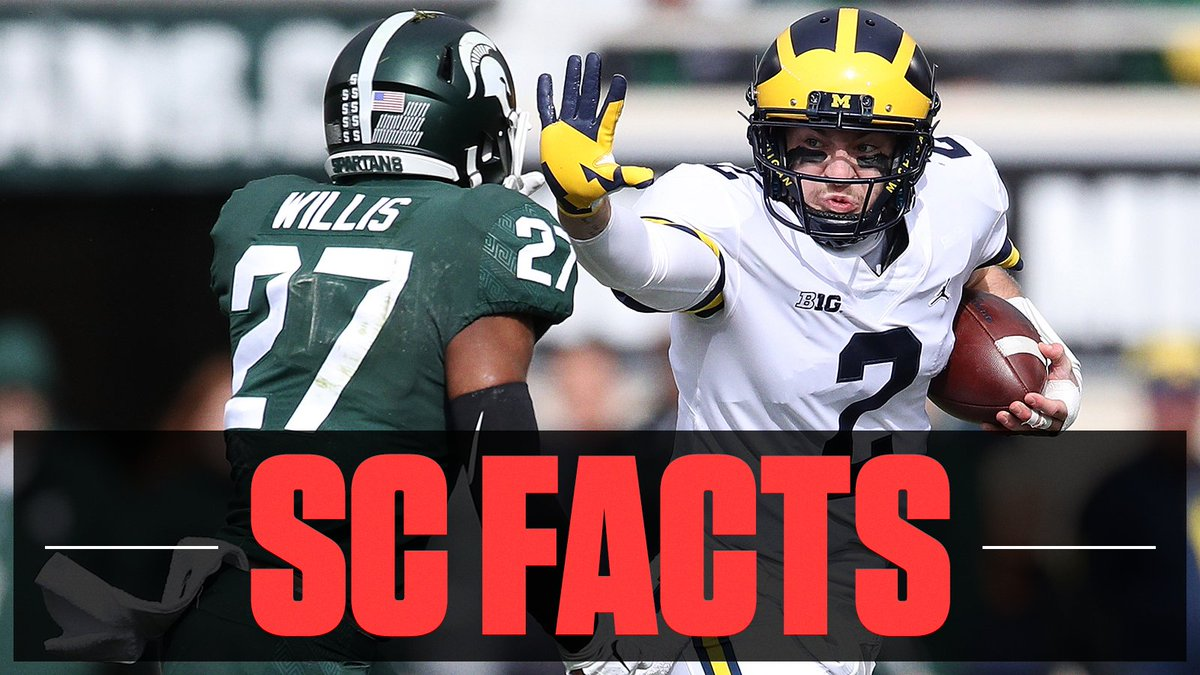 No. 6 Michigan's win over No. 24 Michigan State gives the Wolverines their first road win against a ranked team in 12 years, snapping a 17-game drought. #SCFacts