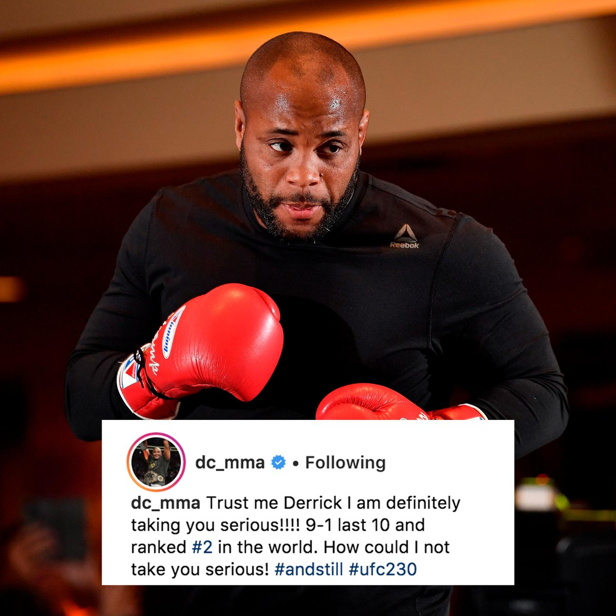 The champ has a message for his opponent. #UFC230
