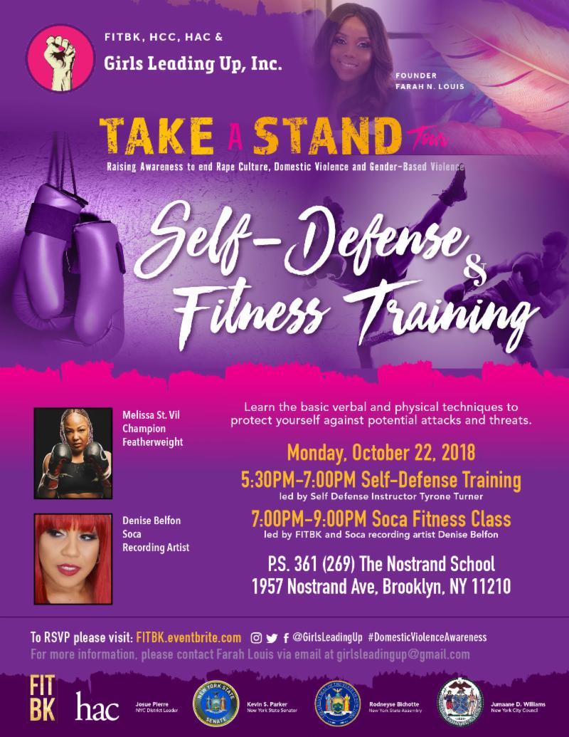October is #DomesticViolenceAwarenessMonth & #MentalHealthAwarenessWeek conta.cc/2EuQhzh Join @FarahNLouis @JumaaneWilliams @SenatorParker & @girlsleadingup #selfdefencetrainingforwomen & #fitness Monday Oct 22 at 5:30PM @hccorg @HAC_Haiti @melissastvil @DeniseBelfon