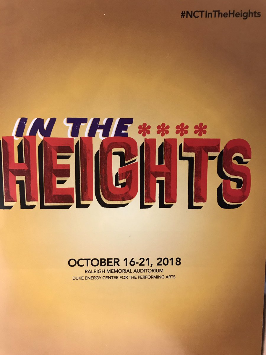 Checking out #NCTInTheHeights ! Good times! #Raleigh #Theatre #NCTheatre #BroadwayConnection