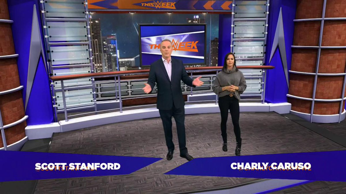 TOMORROW NIGHT join @scottstanford1 & @CharlyCarusoWWE for an all-new episode of #ThisWeekInWWE!
