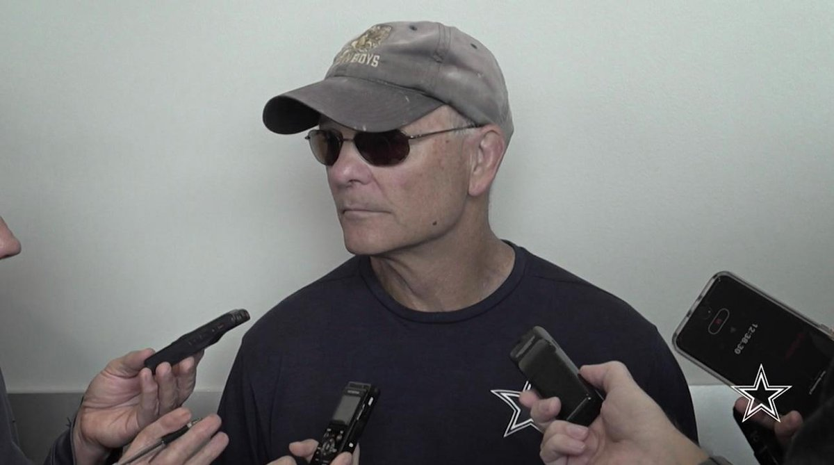 """#DallasCowboys defensive coordinator Rod Marinelli says Washington might have """"the two best tight ends we've played this year."""" #DALvsWAS  🎥 https://t.co/aynaTuWVu9"""
