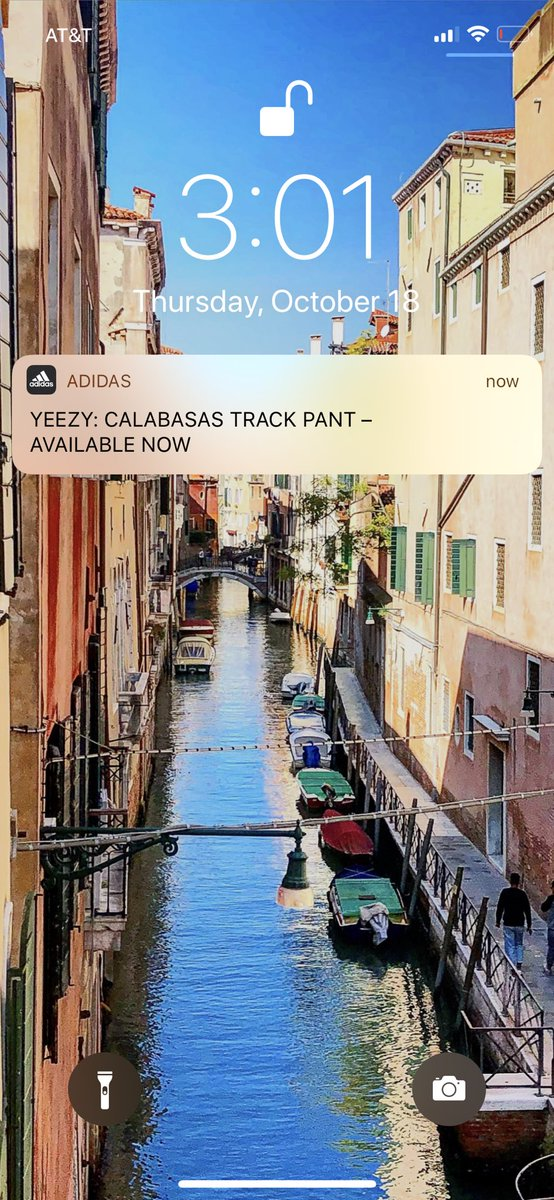 I've gotten like 10 notifications from Adidas and Yeezy about these track pants now. The thirst is real and the Yeezy hype is hurting