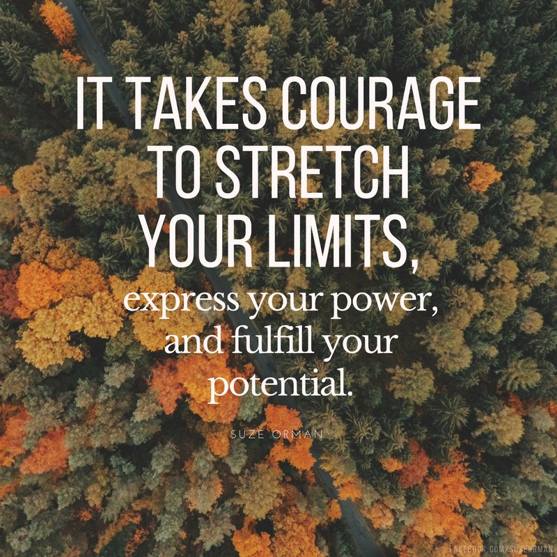 Stretching your limits takes courage. #ThursdayMotivation