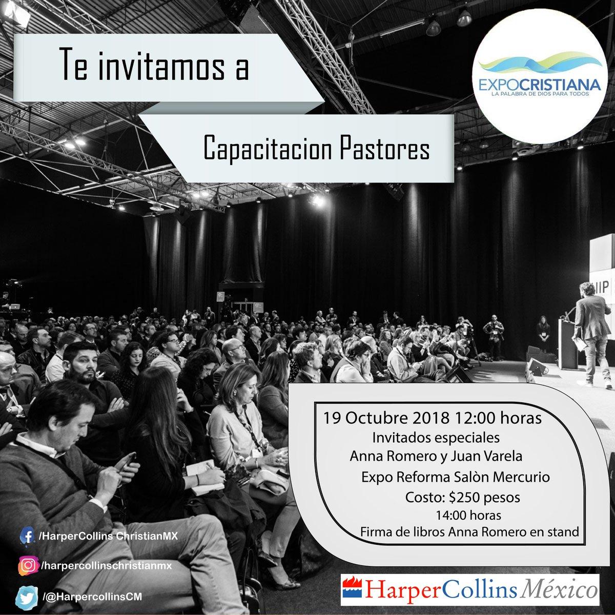 """Te invitamos a que asistas a nuestra conferencia """"Capacitacion Pastores"""" en #Expocristiana2018 con Anna Romero y Juan Varela. Al terminar tendremos una firma de libros en nuestro stand con Anna Romero. #ExpoReforma #Cristiano"""